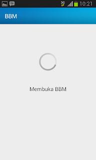 Buka halaman BBM Android