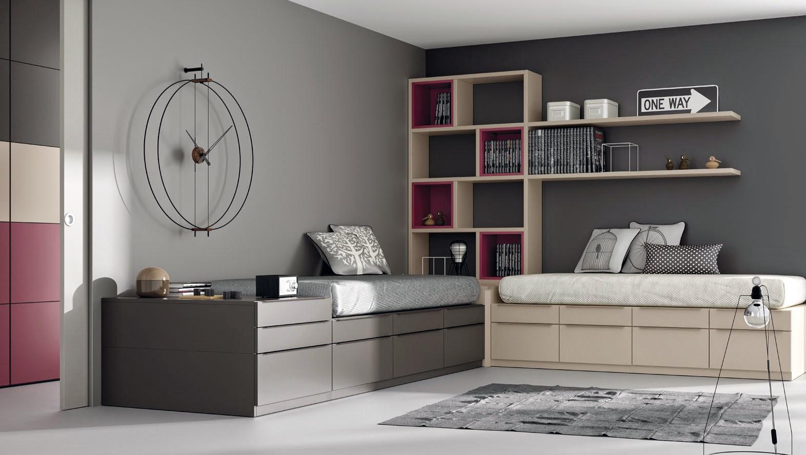 Dormitorios juveniles para dos hermanos - Habitaciones juveniles con estilo ...