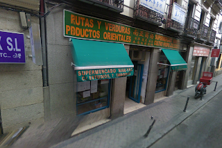 Supermarché chinois à Madrid