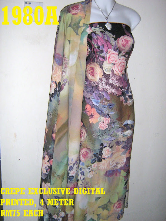 CDP 1980A: CREPE EXCLUSIVE DIGITAL PRINTED, 4 METER