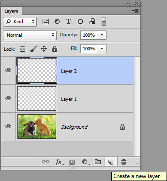 sử dụng layer panel trong photoshop