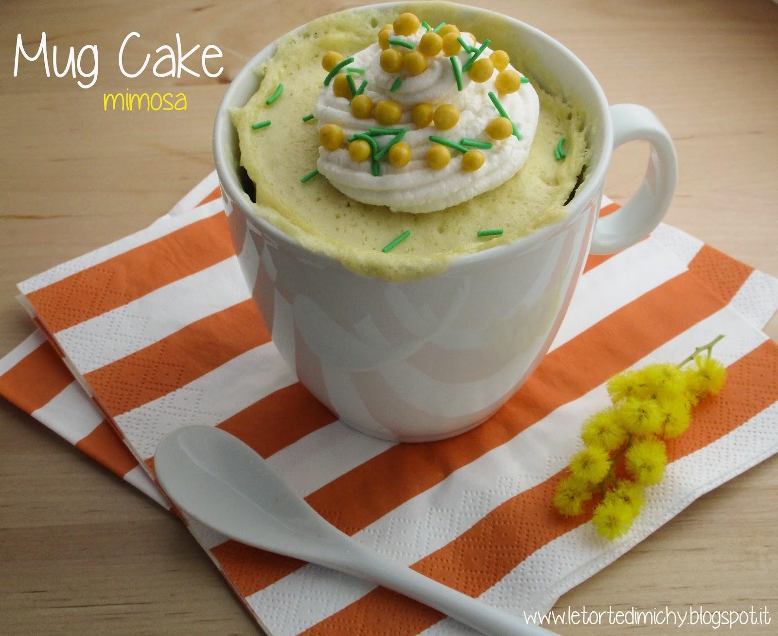 mimosa mug cake (torta in tazza mimosa)
