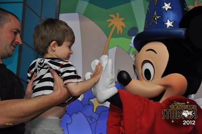 Ethan meets Mickey Mouse at Hollywood Studios