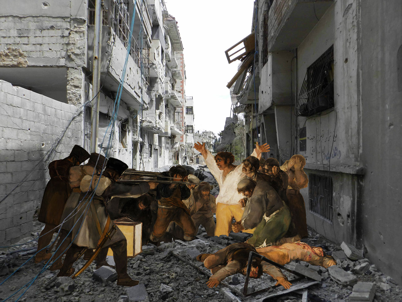 yiweilim, yi wei lim, tammam azzam, tammam azzam art, syria, syria uprising, syrian civil war, francisco goya, goya, goya third of may, spanish art, i the syrian