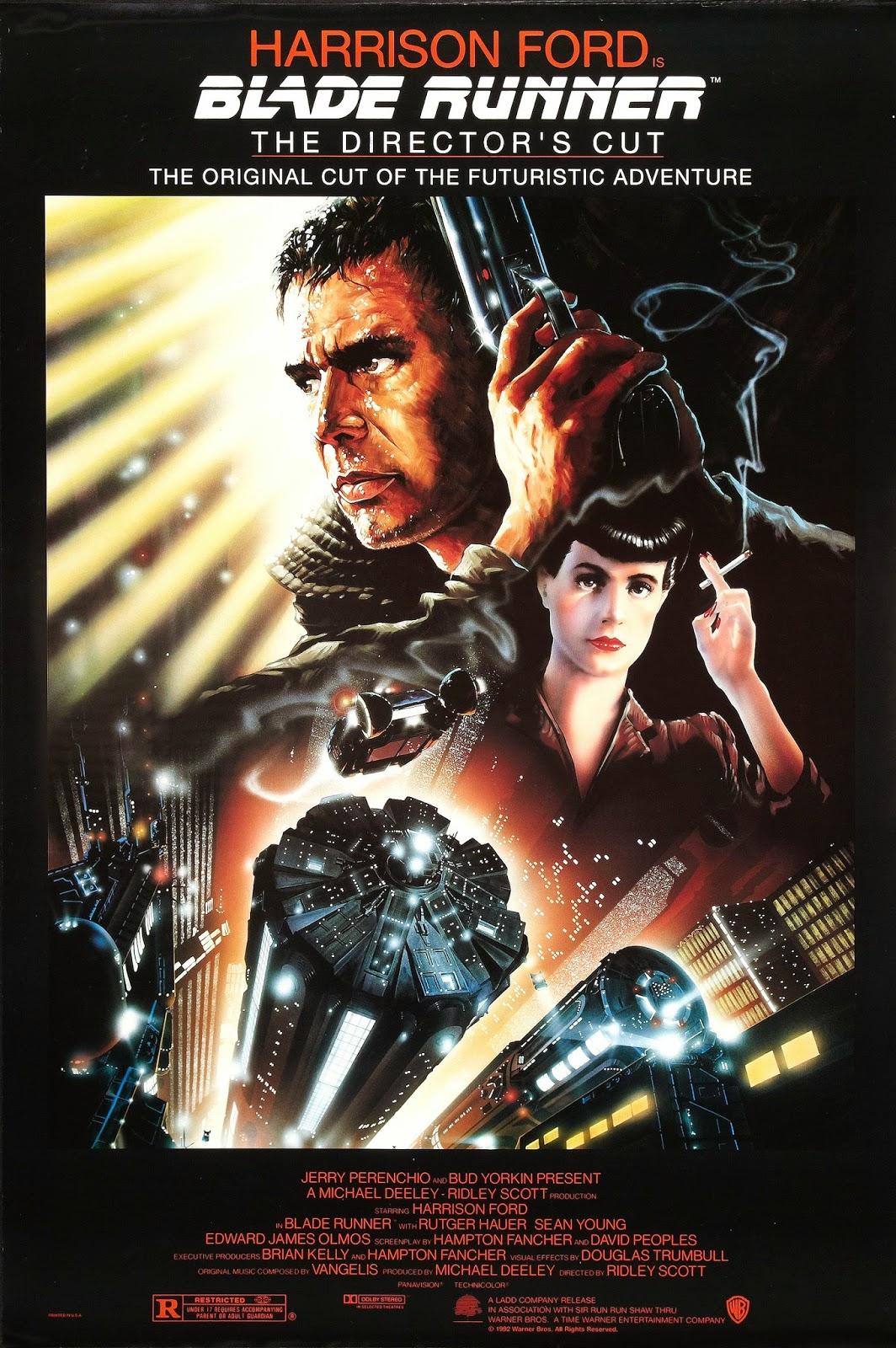 Blade Runner 1982 film ridley scott harrison ford sci fi philip K dick poster