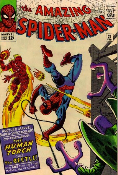 Amazing Spider-Man #21, the Human Torch and the Beetle