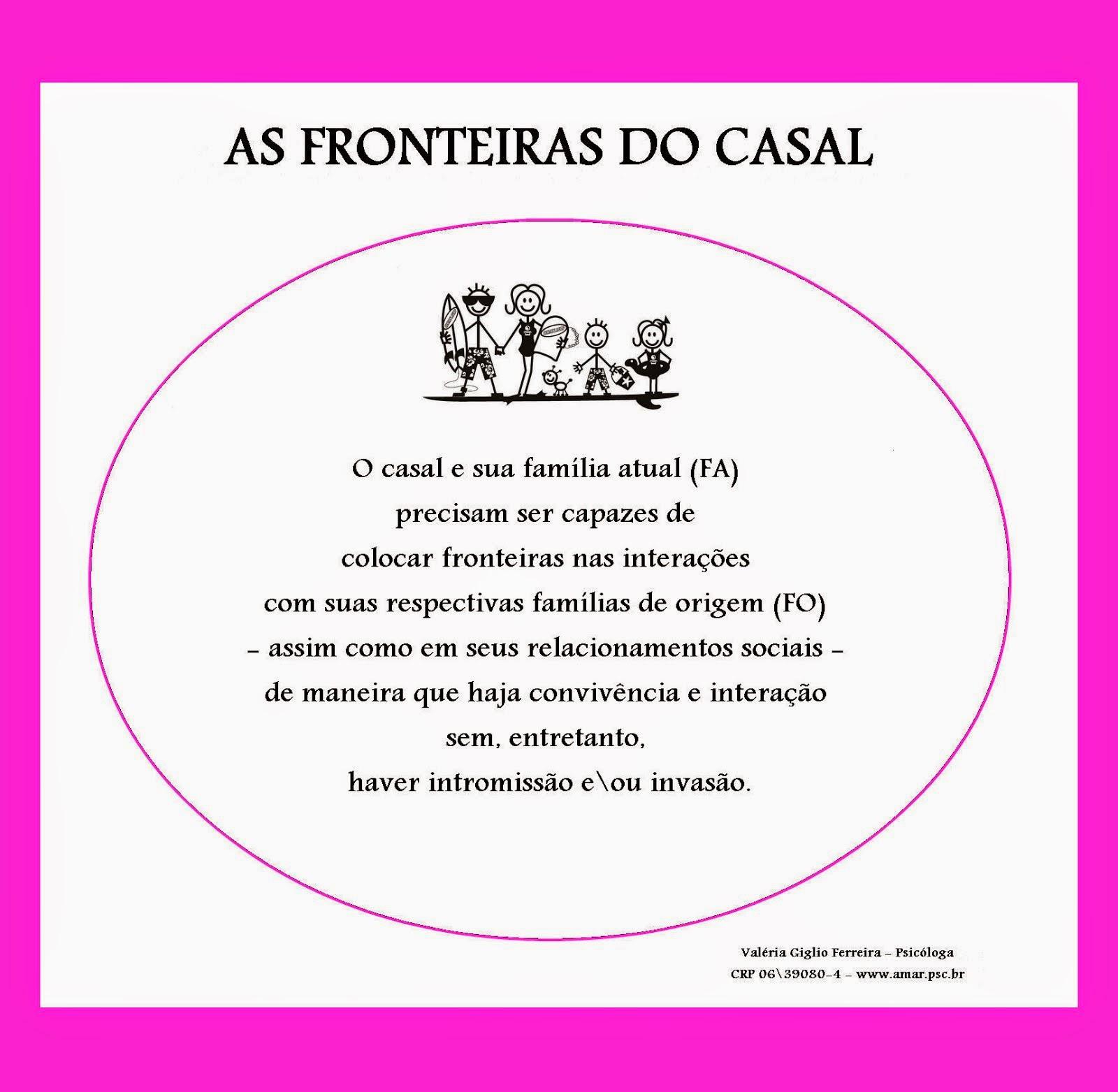 AS FRONTEIRAS QUE O CASAL  PRECISA COLOCAR...O