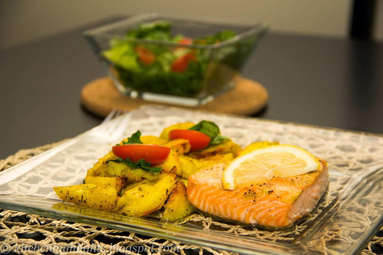Salmon with crunchy potatoes is a brilliantly simple dinner dish