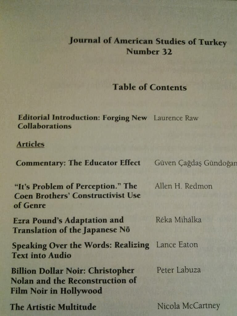 Lance Eaton - Speaking Over the Words: Realizing Text into Audio in Journal of American Studies of Turkey, Issue 32, Fall, 2012