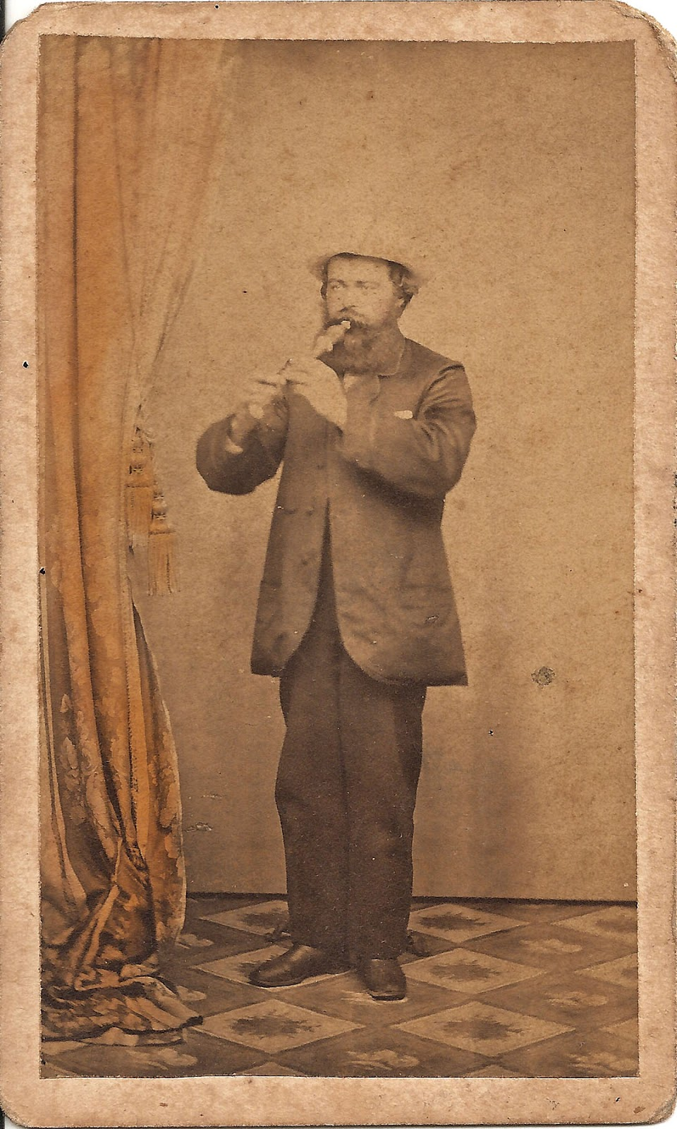 Some Have Hidden Meanings And Clever Twists That Convert A Picture Into Poetry This Modest Carte De Visite Photo Is One Of Them