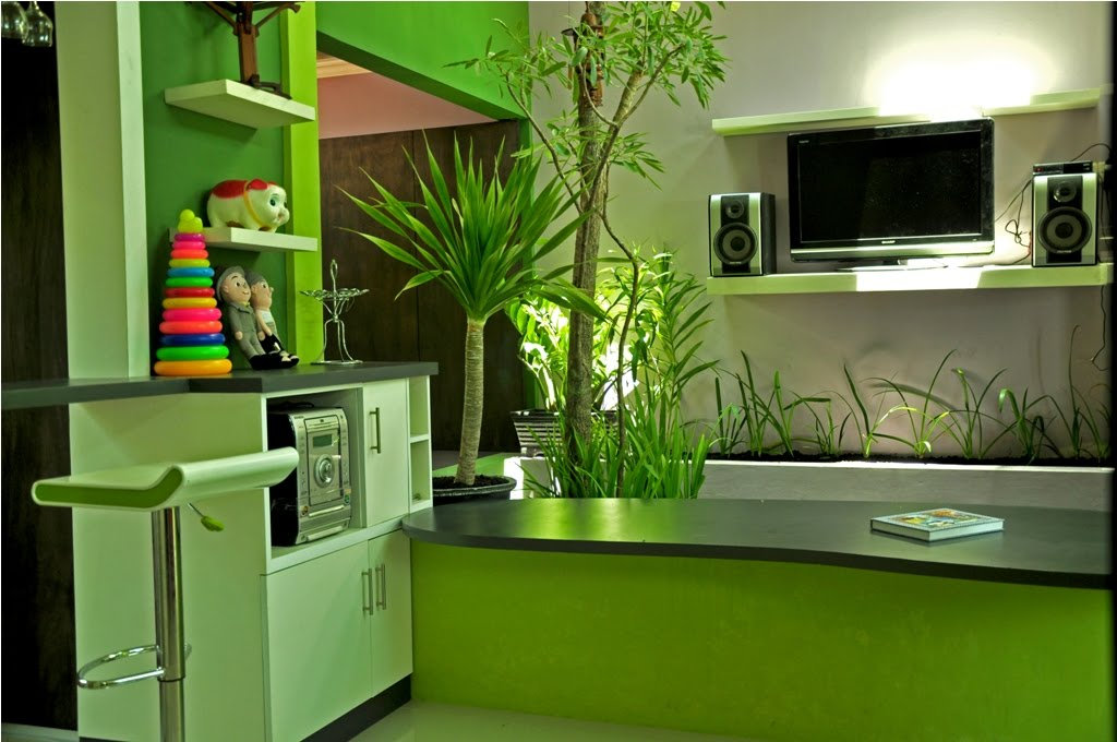 Cawah homes modern green blending homes design by gayuh for Home by design