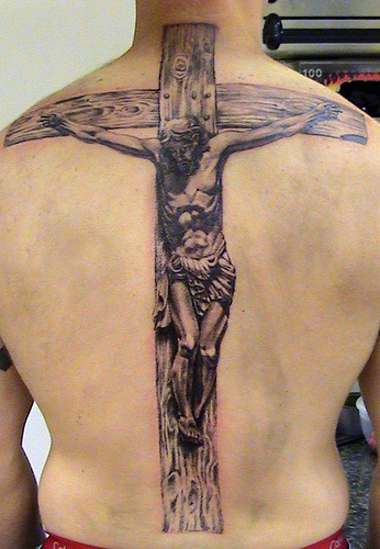 Men Cross Tattoos Idea