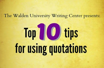 Top 10 tips for using quotations