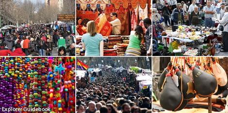 tempat wisata di madrid spanyol El rastro flea market