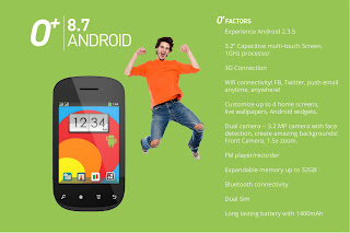 O+ 8.7 Android Smarphonefrom O plus