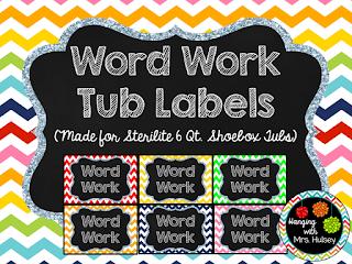 https://www.teacherspayteachers.com/Product/Word-Work-Chevron-Rainbow-Tub-Labels-1987495