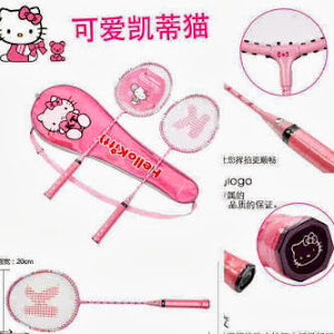 Raket badminton hello kitty