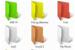 Cara Mengganti Warna Folder di Windows 8/7/XP/Vista