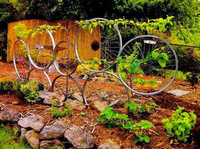 10 Nuevas Ideas para Reciclar Piezas de Bicicletas