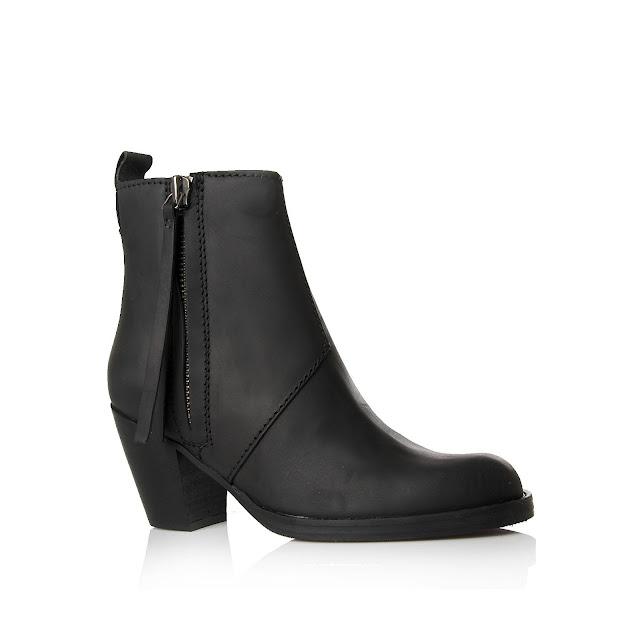 black acne boots