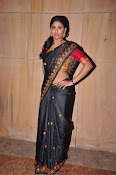 Actress Maneesha Photos in Saree-thumbnail-1