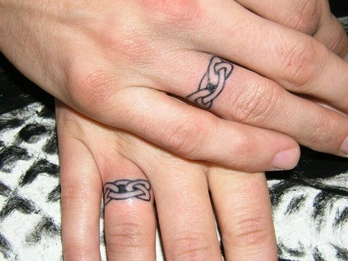 20 cute matching couple tattoos ideas for Married couple tattoos
