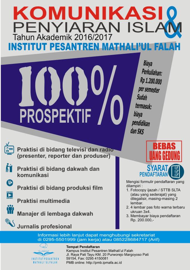 IPMAFA NEWS - PENERIMAAN MAHASISWA BARU PRODI KOMUNIKASI & PENYIARAN ISLAM