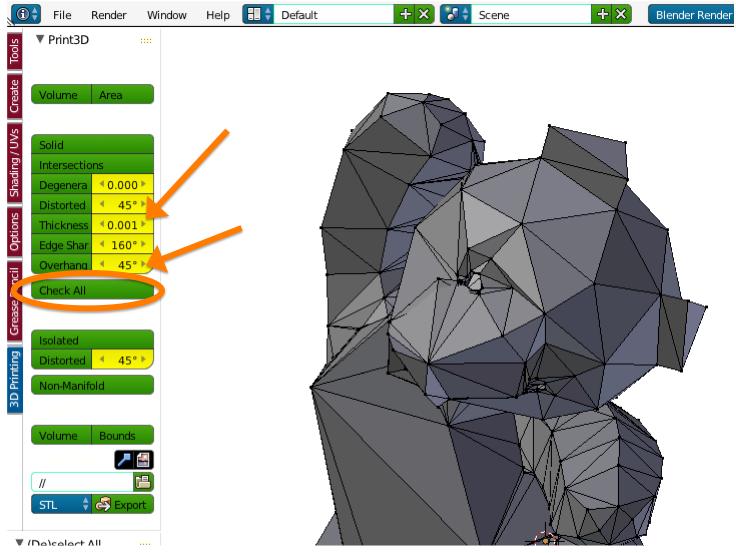 3D Print Toolbox : A Blender Add-on