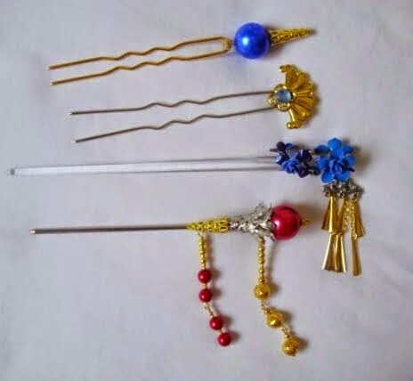 Final Fantasy X Lulu Cosplay Headdress Hairpins Set