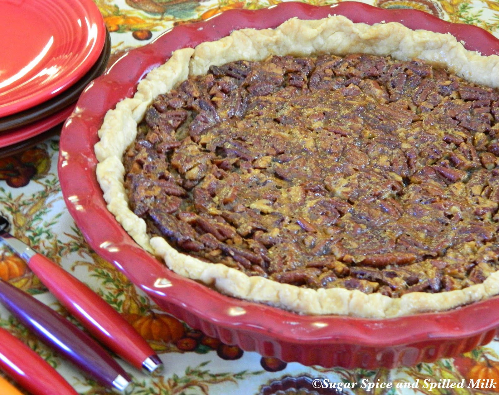 Sugar Spice and Spilled Milk: Chocolate Pecan Pie