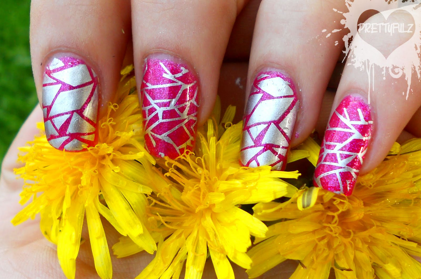 Pink And Silver Nail Designs Nail Designs Hair Styles Tattoos