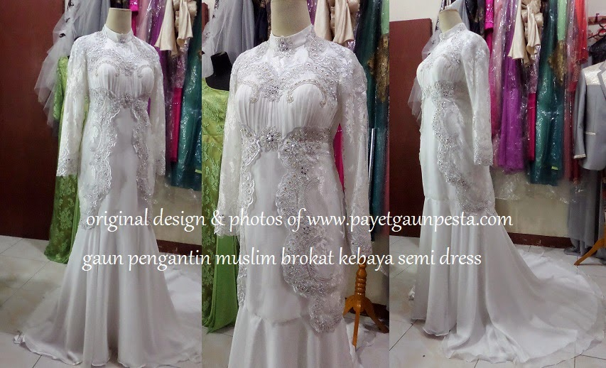 Gaun Kebaya Muslim Brokat