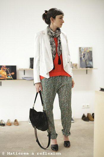 Pyrus London Pantalon imprimé leopard