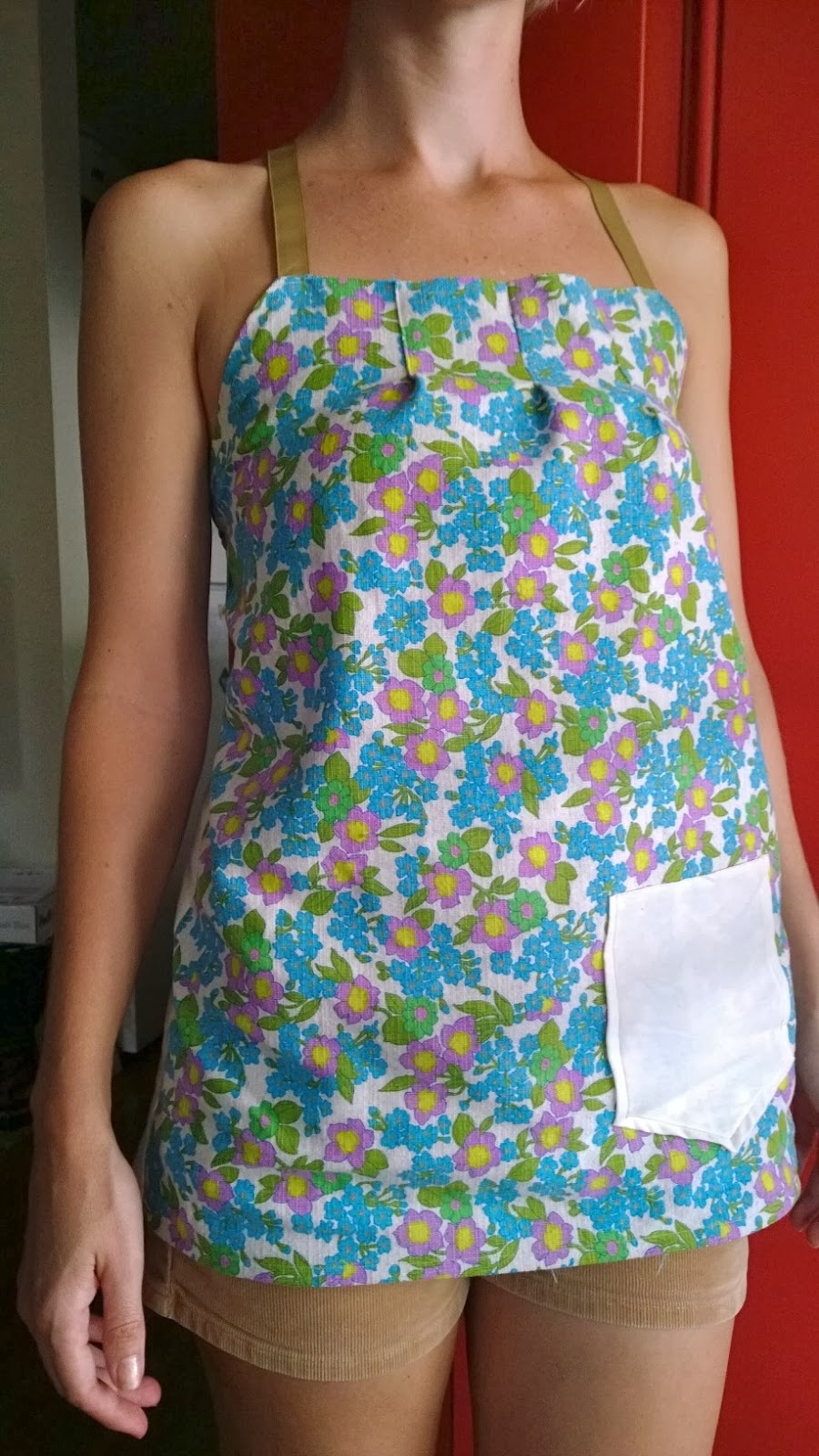 floral vintage fabric handmade shirt
