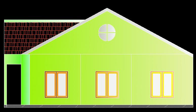 Denah Rumah tinggal Ukuran 12 x 15 di lahan 180 M2 ( 12 bata / ubin )