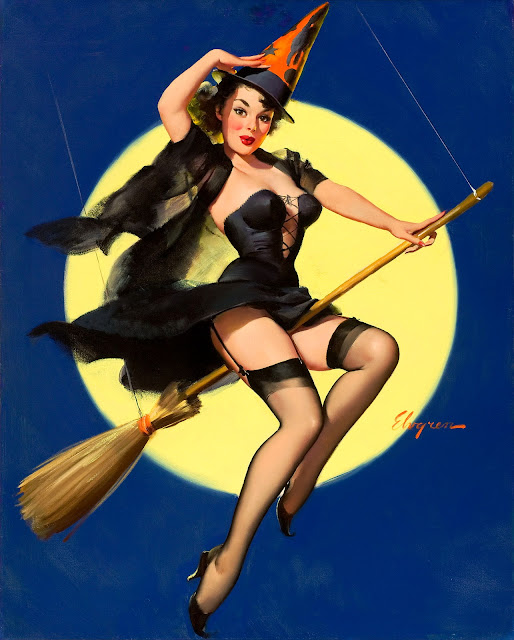 classic halloween pin up