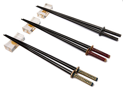 The Ultimate Fun Foodie-Friendly Gift List - Samurai Sword Chopsticks