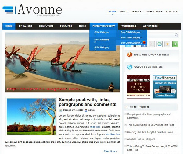 Avonne WordPress Theme