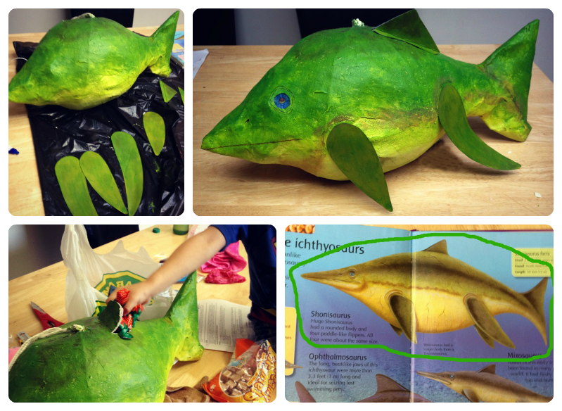 how to make a paper mache dinosaur pinata