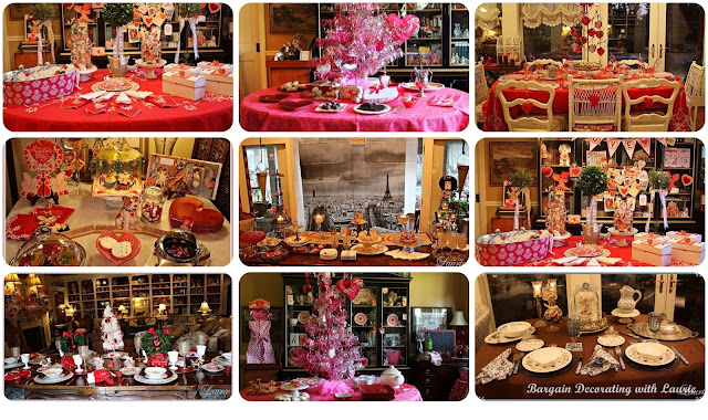 Valentine Table Ideas-Bargain Decorating with Laurie