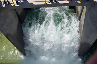 Confira  fotos da inauguração do trecho III do Canal do Sertão em Inhapi