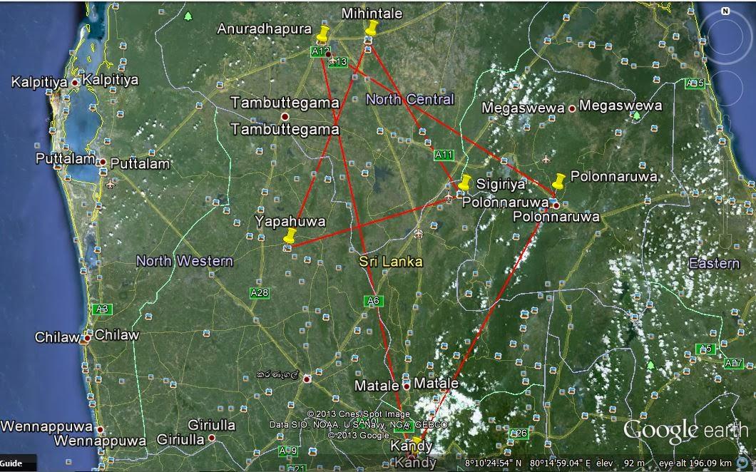 cultural triangle, Sri Lanka, Anuradhapura, Polonnaruwa, Kandy, Sigiriya, Mihintale, Yapahuwa