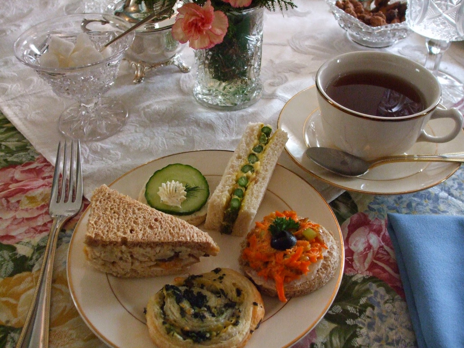 ... Cream Cheese, Asparagus Sandwich with Egg Yolk Butter, and Carrot Tea