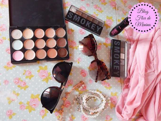 Maquiagens, Óculos , Blusa da China #AliExpress