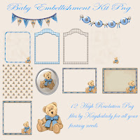 Baby embellishment kit digital scrapbooking kits