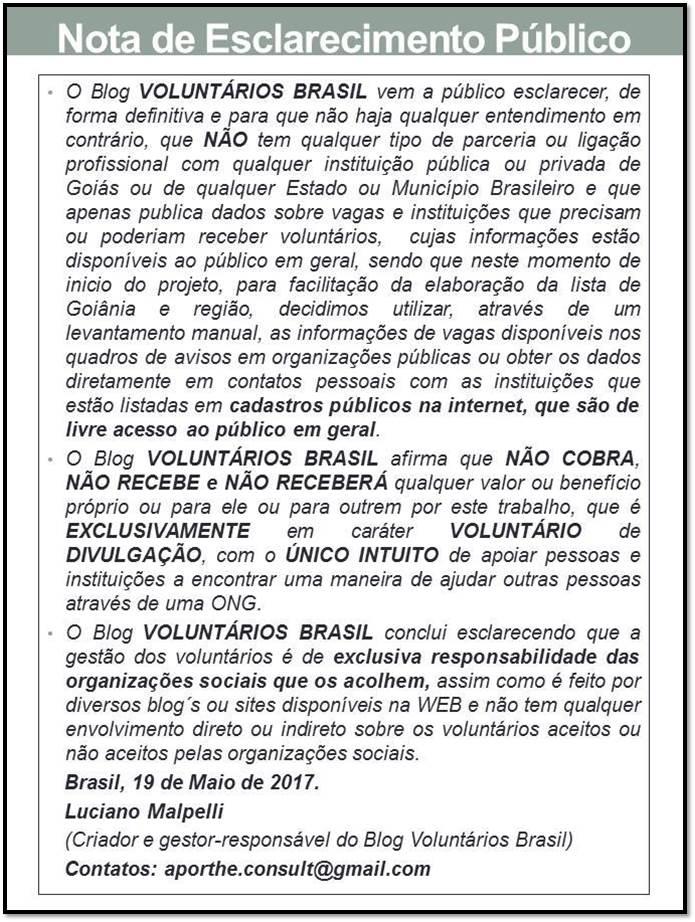 NOTA DE ESCLARECIMENTO PÚBLICO DE 19/05/2017