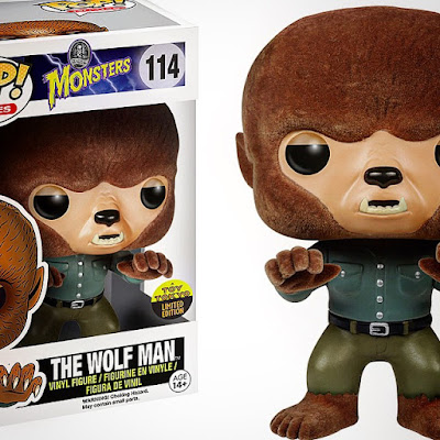 "San Diego Comic-Con 2015 Exclusive Universal Monsters ""Flocked"" Wolfman Pop! Movies Vinyl Figure by Funko x Toy Tokyo"