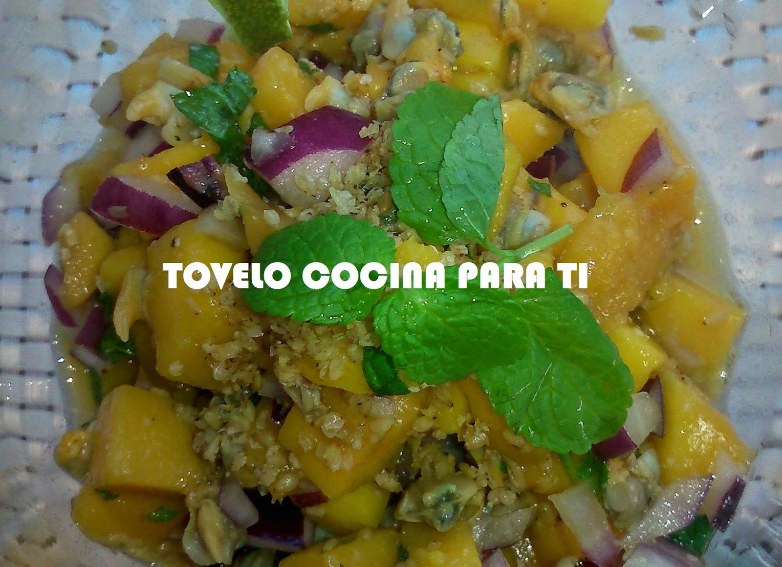 Aperitivo De Berberechos A La Menta Con Mango