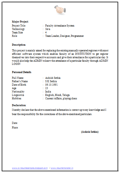 Over 10000 CV and Resume Samples with Free Download: CV Application ...