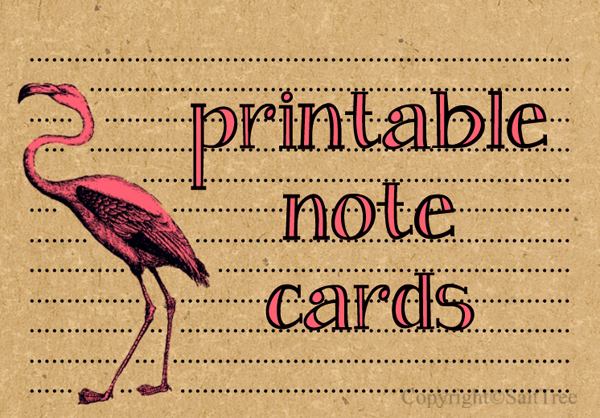 free bird notecards